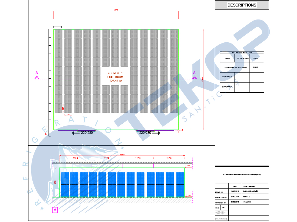 South Africa Cold Storage Room Plan